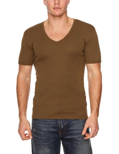 G-Star Base 2 Pack Men's T-Shirt Wild Olive Large