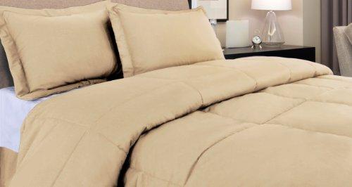 Wheat Twin 240 Thread Count Cottonloft Colors Cotton Comforter front-255944