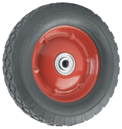 Waxman 4383455 Steel Hub Wheel, Black Tire and Red Rim, 8-Inch by 1.75-Inch