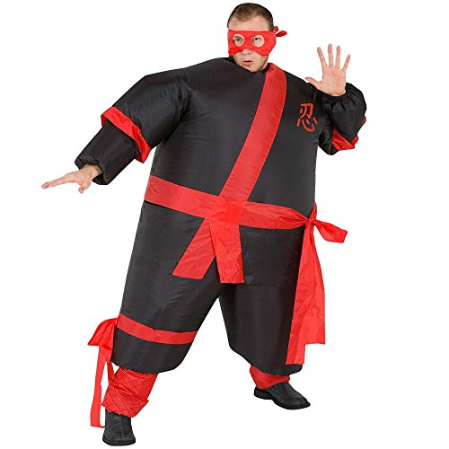 Inflatable Ninja Adult Fancy Dress Costume