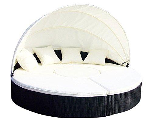 Baidani Gartenmöbel-Sets 10b00002.00001 Designer Rattan Lounge-XXL-Sofa Atlantis, 1 Lounge-Insel, Sonnendach, Sitzazflagen, schwarz online bestellen
