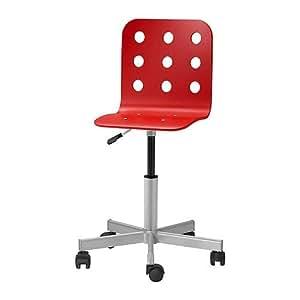 ikea jules chaise de bureau junior rouge. Black Bedroom Furniture Sets. Home Design Ideas