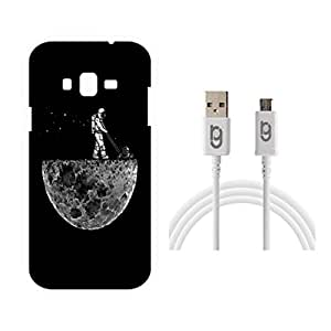 Designer Hard Back Case for Samsung Galaxy J3 with 1.5m Micro USB Cable