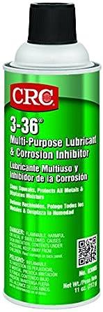 CRC 3-36 Multi-Purpose Lubricant and Corrosion Inhibitor, 11 oz Aerosol Can, Clear/Blue/Green