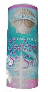 Cerulean Seas Fine Iodized Sea Salt - 14.5 oz.