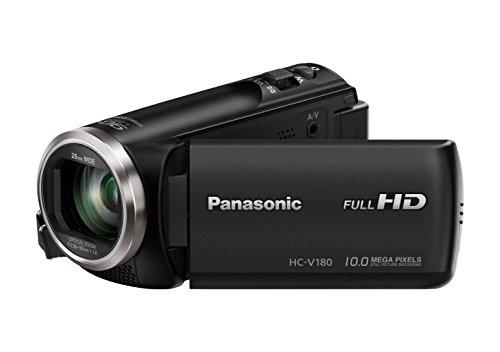 HC-V180EG-K Full HD Camcorder (1/5, 8 Zoll Sensor, Full HD, 50x optischer Zoom, 28 mm Weitwinkel, opt. 5-Achsen Bildstabilisator Hybrid OIS+) schwarz