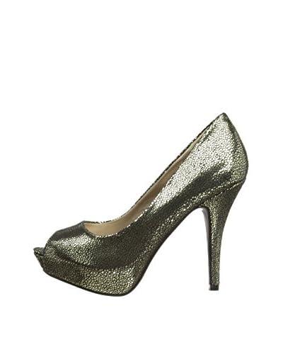 Victoria Delef Zapatos Peep Toe 14V0519 Negro / Plata