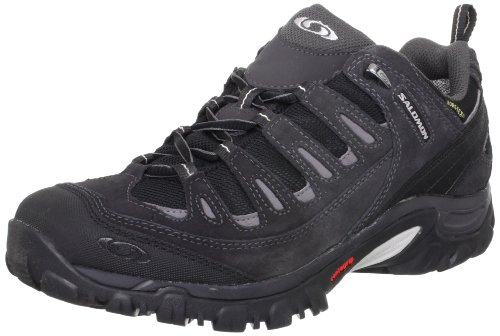 Salomon Men's Exit 2 GTX Walking Shoe,Black/Asphalt/Aluminuim,7.5