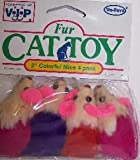 Vo-Toys Multicolored 2in Mice 2 pack Cat Toy