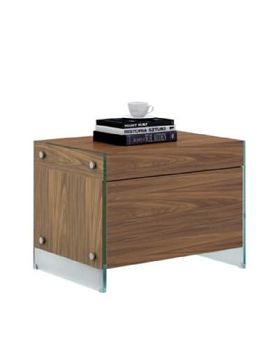 Casabianca Furniture Il Vetro Nightstand, Walnut