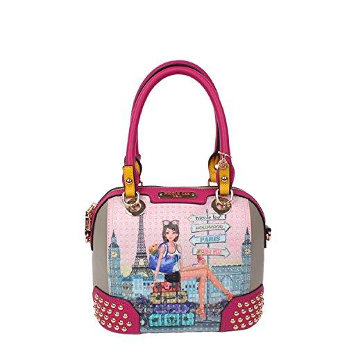 nicole-lee-chloe-print-mini-studded-dome-bag