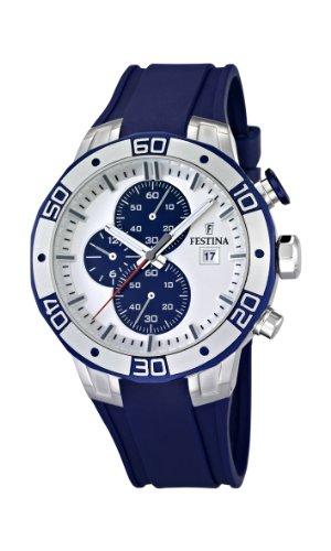 Festina F16667/1 - Reloj cronógrafo de cuarzo para hombre con correa de caucho, color azul