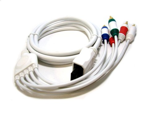 6FT Nintendo Wii Audio Video ED Component Cable - White