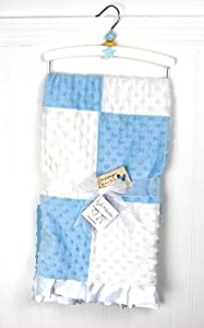 New Boutique Blue Boy Minky Dot Chenille Baby Blankets