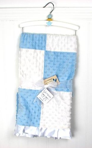 New Boutique Blue Boy Minky Dot Chenille Baby Blankets front-667368
