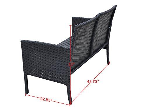 Radeway-4-PC-Cushioned-Seat-Outdoor-Patio-Set-Rattan-Wicker-Sofa