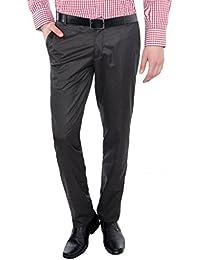 Only Vimal Men's Black Slim Fit Formal Trouser