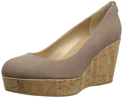 Women's Stuart Weitzman 'York' Wedge Pump, Size 12 M - Brown