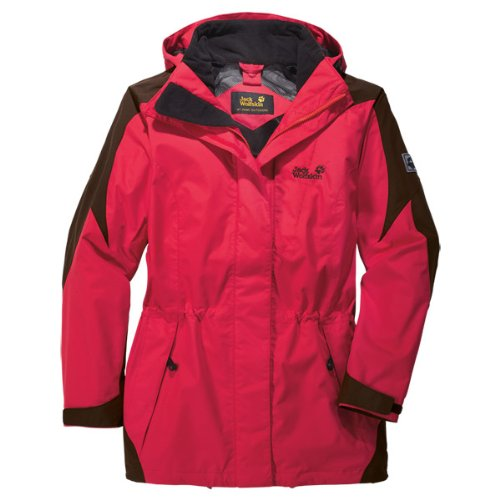 Jack Wolfskin Damen Jacke Mellow Range, Clear Red, XS, 1103781-2122001