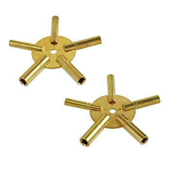 Set A Shopping Price Drop Alert For 10-Size Solid Brass Clock Winding Keys - 5 Odd & 5 Even Sizes Sizes 2 to 11
