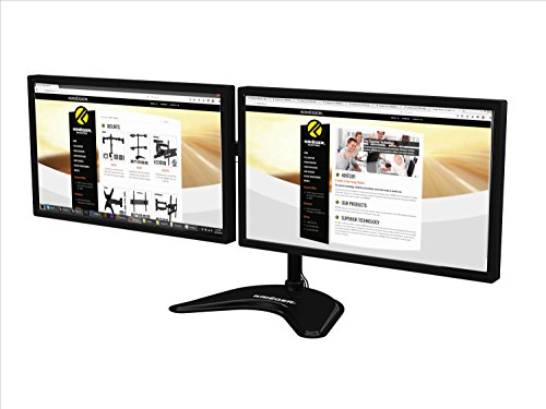 KRIËGER KL2327B Dual 2 Monitor Desk Mount Full Motion Articulating Arm for two LCD, OLED, 4K Computer Displays, Fits 17, 19, 20, 22, 23, 24, 27 Inch, Fits VESA 75 100, Swivel, Rotate, Tilt (Dual Monitor Stands compare prices)