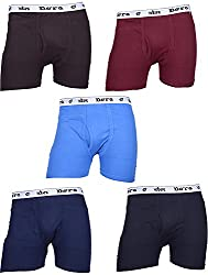 Dora Men's Cotton Brief (Pack of 5, Coffee, Dark Blue, Sky Blue, Maroon And Ink Blue, 100)