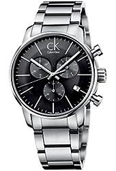 Calvin Klein Men's CK City Chronograph Dress Watch in Silver, K2G27143