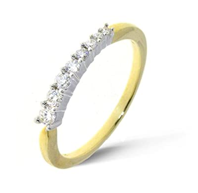 Classical 18 ct Gold Ladies Half Eternity Diamond Ring Brilliant Cut 0.25 Carat H-I1
