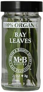 Morton & Bassett Organic Bay Leaves, .1-Ounce Jars (Pack of 3)