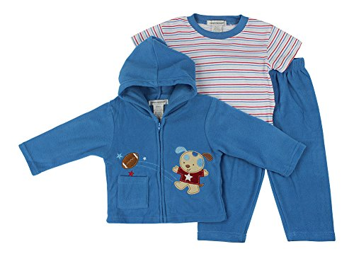 Alfa Global Baby-Boys Infant Three-Piece Polar Micro-Fleece Set Blue 18 Months back-894253