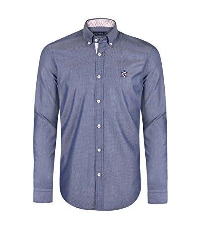 SIR RAYMOND TAILOR Camisa Hombre Bite Azul Grisáceo