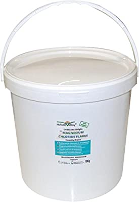Magnesium Chloride Flakes 10kg tub from Dead Sea Origin