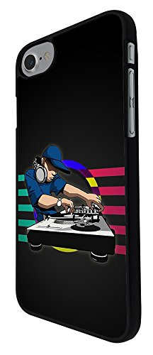 002065 - Cool Fun Blue Dj Mixer Music Party Clubber Rave Dance Design For iphone 7 4.7