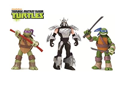 Teenage Mutant Ninja Turtles 3-Pack Basic Figure Bundle (Leonardo/Donatello/Shredder)