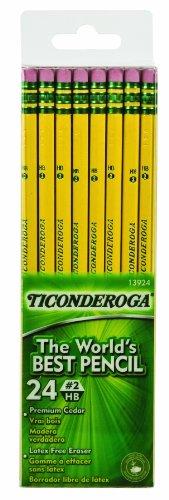 dixon-ticonderoga-wood-cased-2-hb-pencils-six-24-count-hang-tab-boxes-total-144-pencils-yellow-13924