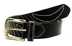 La Palma Black Leather Belts N.32116