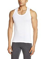 Lakomfort Men's Cotton Vest (Echo _X-Large_White)