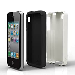 Acase(TM) iPhone 4 and 4S Superleggera PRO Dual Layer Protection (White/Black) case (Fits AT&T Sprint and Verizon iPhone 4 and 4S)