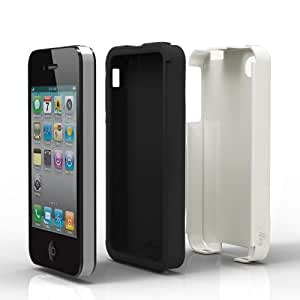 Acase(TM) iPhone 4 and 4S Superleggera PRO Dual Layer Protection (White/Black) case (Fits AT&T, Sprint and Verizon iPhone 4 and 4S)