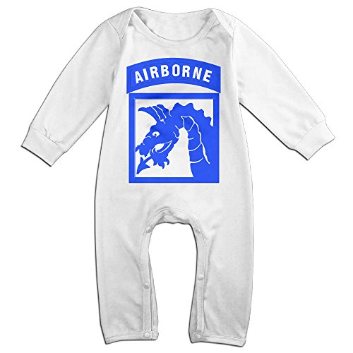 FJX4 Baby's Coverall 18 ABC SSI AirBorne Outfits White 12 Months (Abc 13 Days Of Halloween)