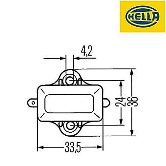 Hella 6DD 001 551-001 Interruptor, luz de freno