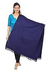 Handycraft Shawls Women's Woollen Shawl (Blue)