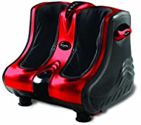 Ucomfy 8954 Leg and Foot Massager with Heat Option, Red/Black by Ucomfy