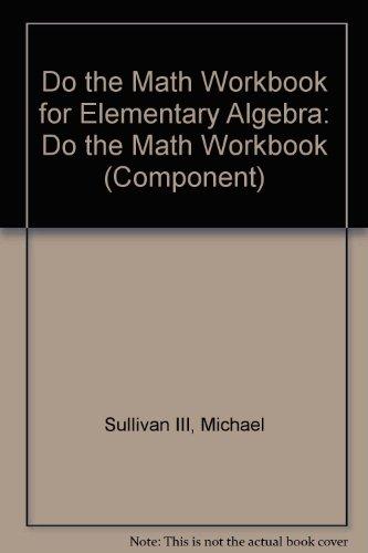 Do the Math Workbook for Elementary Algebra