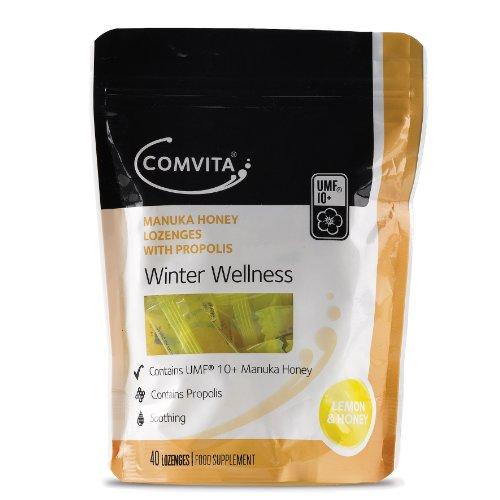 Comvita Manuka Honey with Propolis and Lemon Lozenges Pack of 40