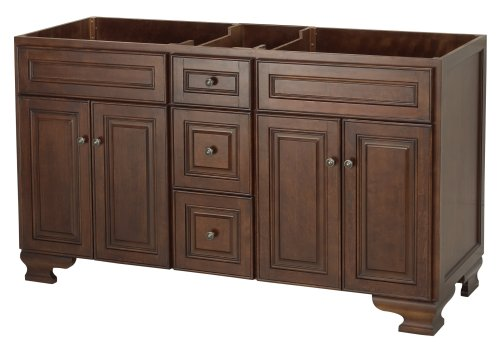 Foremost hana6021d hawthorne 60 inch vanity dark walnut for Foremost homes prices