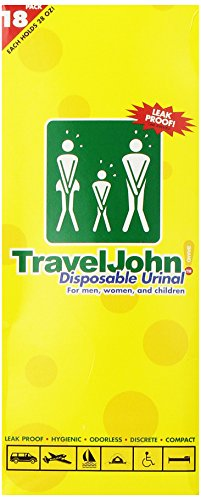 TravelJohn-Disposable Urinal (18 pack)