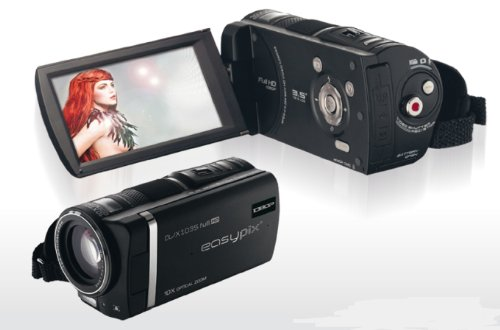 digitale Videokamera EASYPIX ''DVX 1035'', Full HD, 10MP Cmos, 10x optiZoom