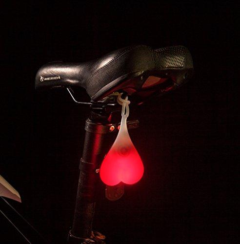 Bike Tail Light, Delomo Bike Rear Light Waterproof Warning Taillight Bicycle LED Night Light (Red)