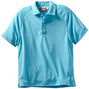 Puma Golf NA Boy's Solid Tech Polo Tee, Blue Atoll, Small